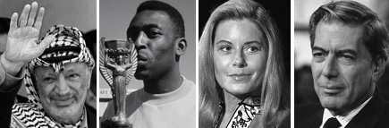 Vargas Llosa, Pelé, Vera Fischer e Arafat