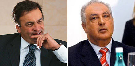 Aécio Neves e José Tatico