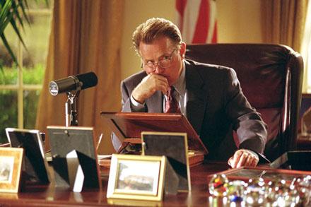 O ator Martin Sheen na pele do presidente Bartlet, antípoda de Bush