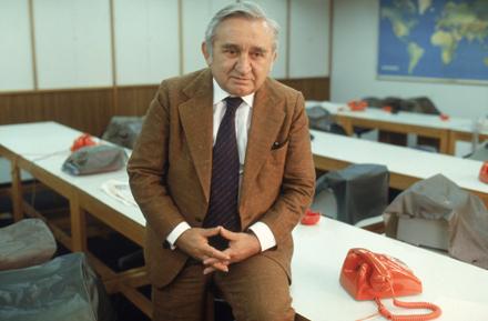 O jornalista político Castelinho, em 1980 (Foto:  Salomon Cytrynowicz)