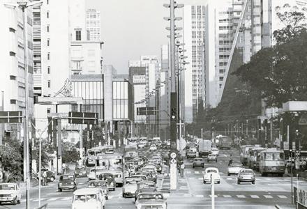 Avenida Paulista, na década de 80 (Foto: Irmo Celso)