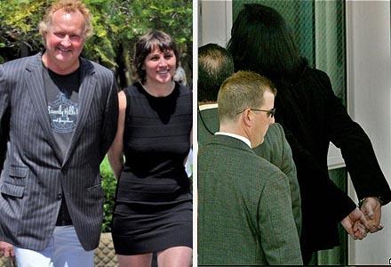 Randy Quaid e sua esposa, e o popstar Michael Jackson