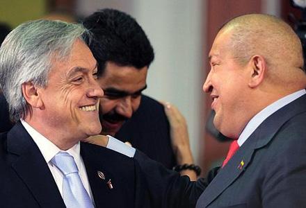 Piñera e Chávez na Celac