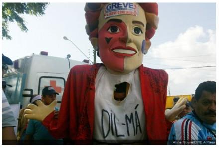 """Protesto em Garanhuns contra """"Dil-Má"""": instituições federais em greve (Foto: Aline Moura / DA Press)"""