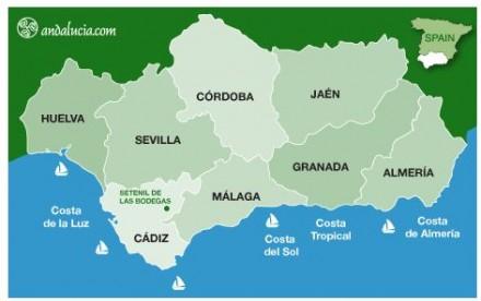 mapa de Setenil de las bodegas
