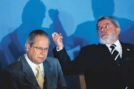 José Dirceu e Lula (Foto: VEJA.com)