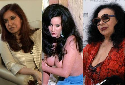 Cristina Kirchner e Isabel Sarli, em cena de filme dos anos 50-60 e hoje