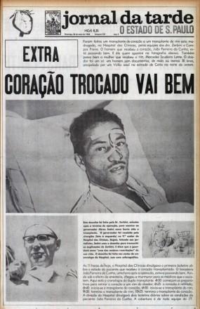1968 -- Edição especial sobre o primeiro transplante de coração do país: trabalho premiado