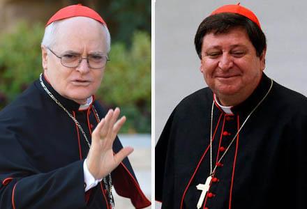 Dois cardeais brasileiros estão entre os favoritos a papa: Dom Odilo Scherer e Dom Jõao Braz de Aviz (Fotos: AP)