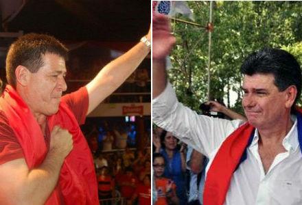 """Horacio Cartes e Efrain Alegre, os dois favoritos são de partidos tradicionais, inteiramente distantes do """"bolivarianismo"""" (Fotos: MercoPress :: EFE)"""