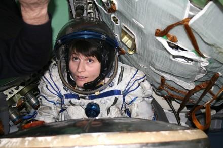 Durante treinamento na Soyuz (Foto: GCTC)
