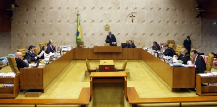 Julgamento dos embargos de declaração apresentados pelas defesas dos réus condenados na Ação Penal  470 (Foto: Fellipe Sampaio / STF)
