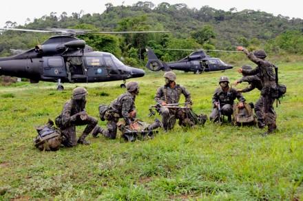 Exercícios da Academia Militar das Agulhas Negras, AMAN (Foto: Arquivo do Exército)