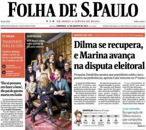 Folha de São Paulo de 11 de agosto de 2013