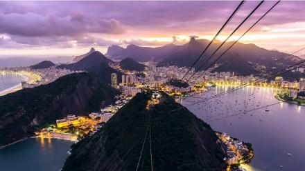 Vista extasiante do Rio de Janeiro