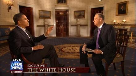 Obama e Bill O'Reilly: o presidente se controlou para não perder a calma diante de Bill O'Reilly -- que, além de crítico do presidente, não esconde seu desprezo por ele como político (Foto: Reprodução Fox News)