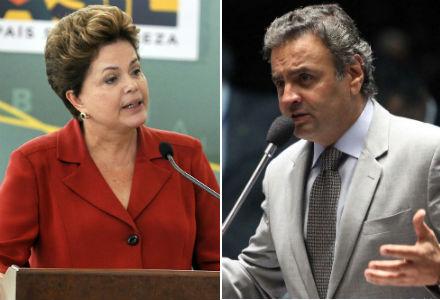 Para leitores do blog, segundo turno será disputado por Dilma Rousseff e Aécio Neves (Fotos: Antônio Cruz / ABr :: Agência Senado)