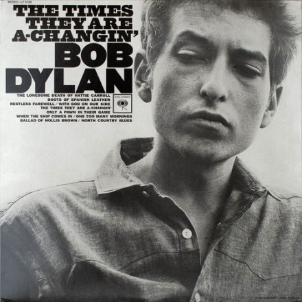 """Amar e """"The Times They Are A-Changin'"""", de Bob Dylan (1964)"""