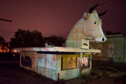 Like one of Goya's Caprichos in Mack Ave. at Lenox, Detroit