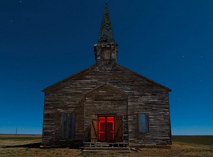 Abandoned church in Cee Vee, Texas. January 2009