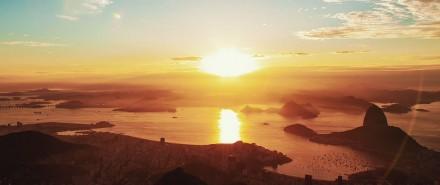 Na sequência de abertura do vídeo, uma imagem estonteante do Rio de Janeiro (Foto: Reprodução/Vimeo)
