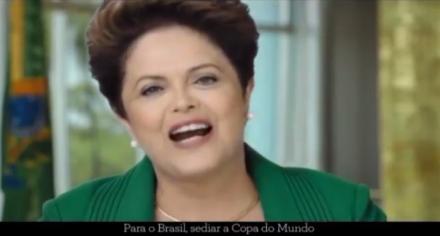 Dilma: discurso sobre a Copa teve óbvios fins eleitoreiros (Foto: reprodução TV)