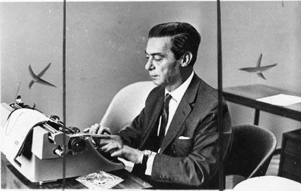 Presidente do Senado, Auro Soares de Moura Andrade 1964. (Foto: UH/Folhapress)