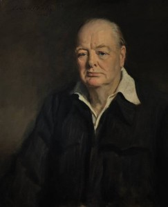 Retrato de Churchill por Oswald Birley (1880-1952): 1,8 milhão de euros (Foto: telegraph.co.uk)