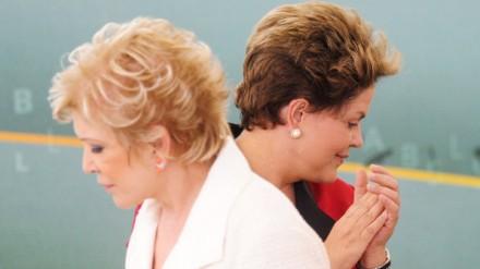 Marta Suplicy e a presidente Dilma: agora, caminhos opostos (Foto: Fernando Bizerra Jr./EFE)
