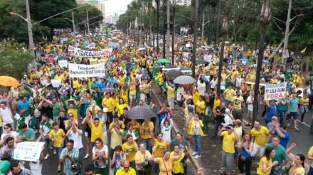 """Fora Dilma"" em Goiânia (Foto: Wildes Barbosa/O Popular)"
